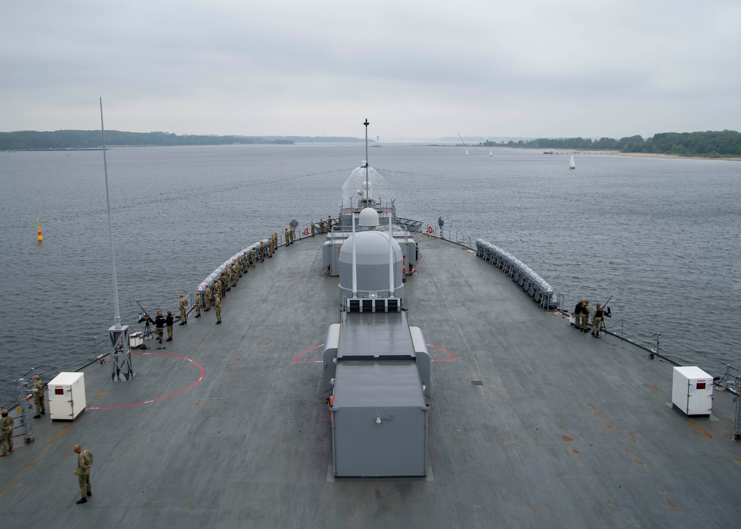 USS Mount Whitney Arrives In Kiel, Germany