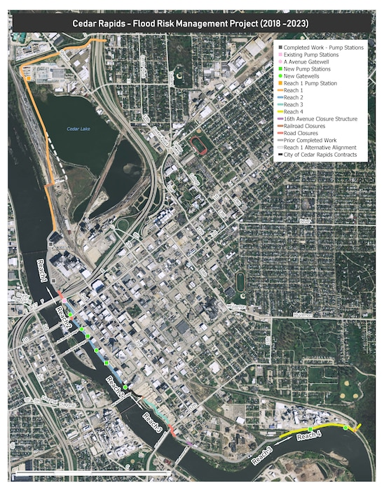 The Draft Environmental Assessment is now available for the Cedar Rapids, Iowa, Flood Risk Management Project. The U.S. Army Corps of Engineers, Rock Island District, and the City of Cedar Rapids are partners in the implementation of this flood risk management plan for the Cedar River.