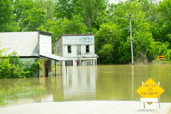 Flooding in Valley City, Illinois