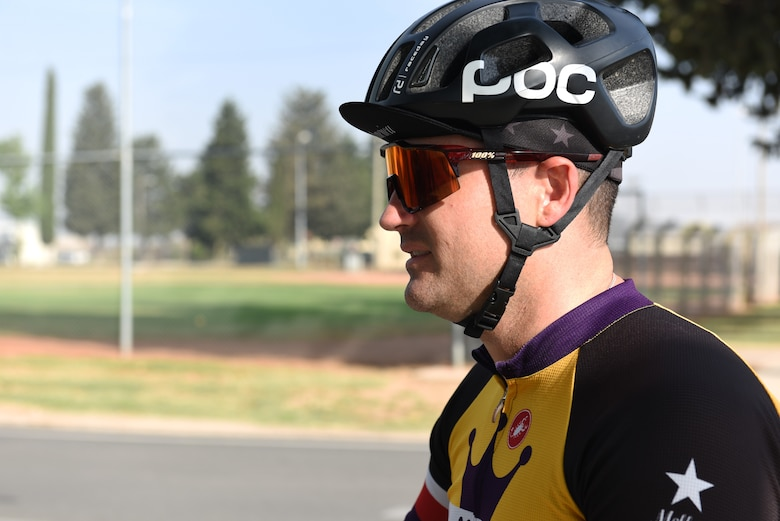 Master Sgt. Jonathan Wyatt, 39th Operations Support Squadron NCO in charge of air traffic control standardization and evaluation, prepares for a bike ride June 1, 2019, at Incirlik Air Base, Turkey. Wyatt is a part of an Incirlik biking group, whose members experience levels range from beginner to competitive cyclists. (U.S. Air Force photo by Staff Sgt. Matthew J. Wisher)