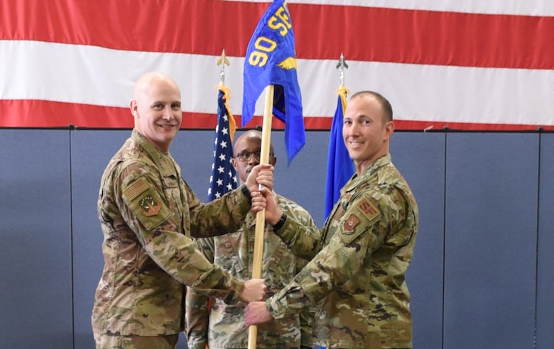 Captain Robert Chance took command of the 890th Missile Security Forces Squadron during a change of command ceremony June 3, 2019 on F. E. Warren Air Force Base, Wyo.