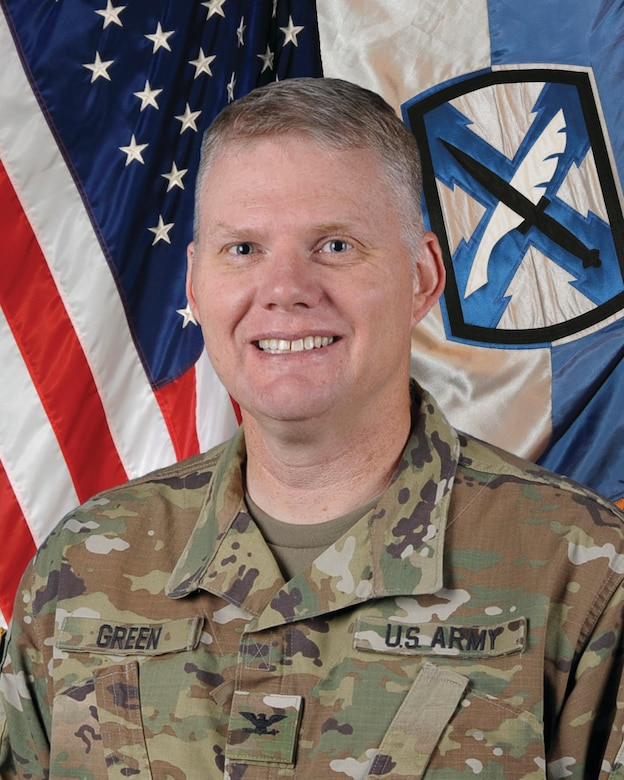 Col. Joseph Green Command Photo, Commander of the 300th Military Intelligence Brigade, Oct. 10, 2018.