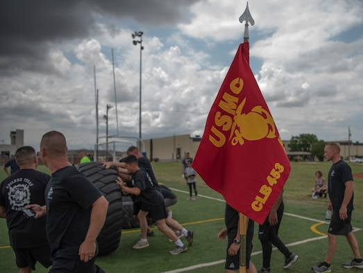 Det. 1 Marines test strength at Team Dyess Sports Day
