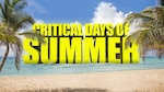 "Graphic that reads in yellow ""Critical Days of Summer"" with a beach background"