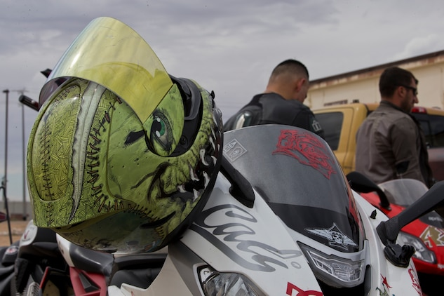 U.S. Marines stationed at Marine Corps Air Station (MCAS) Yuma participate in the Yamaha Champions Riding School course at MCAS Yuma, Ariz., March 20 2019. (U.S. Marine Corps photo by Pfc. John Hall)