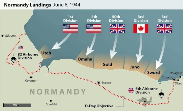 Normandy Landings June 6, 1944.