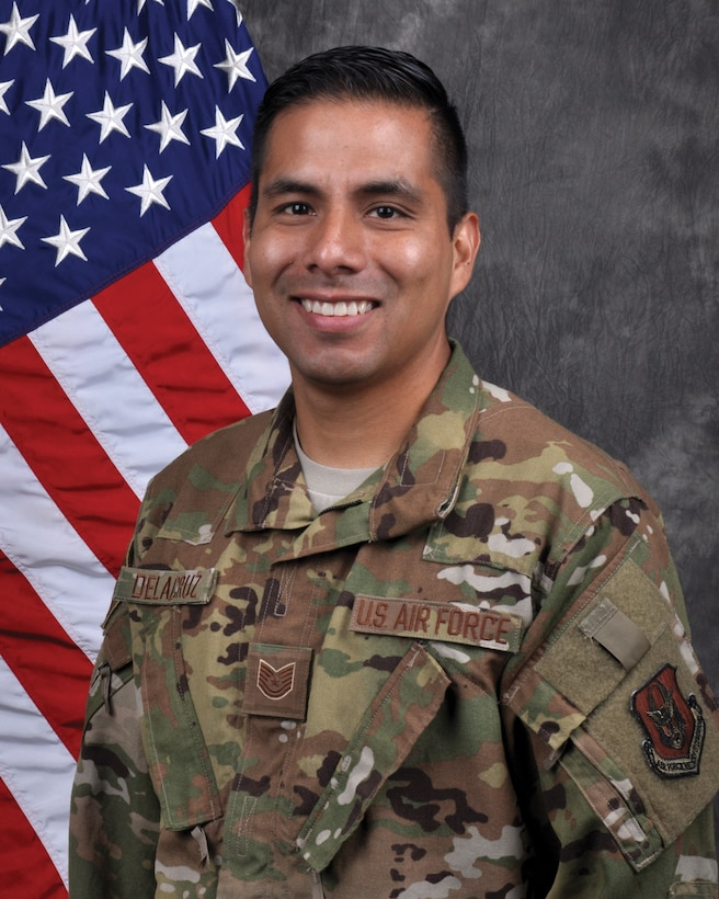 Tech. Sgt. Christian Delacruz, 445th Aeromedical Evacuation Squadron, aeromedical evacuation technician, is the 445th Airlift Wing NCO of the quarter, first quarter CY 19.