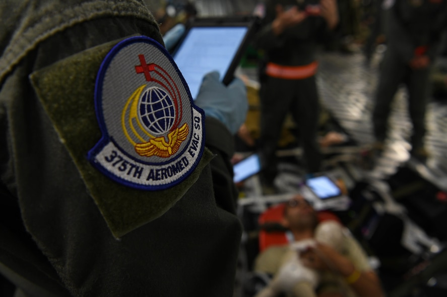 Patch sits affixed to arm of Airman
