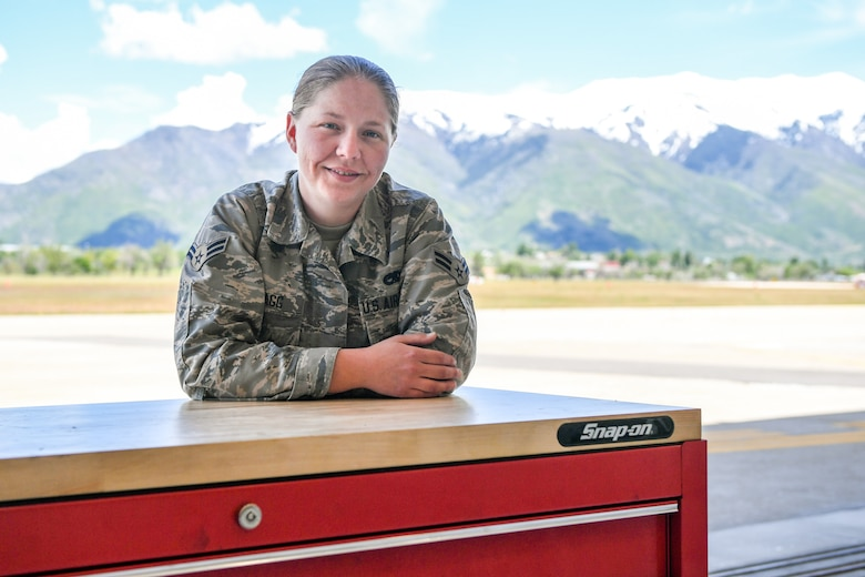 Airman 1st Class Katherine M. Bragg, 388th Maintenance Squadron, was recently named a Superior Performer by the Team Hill Top 3. The Top 3 recognizes Airmen from Team Hill who have demonstrated excellence on and off duty. (U.S. Air Force photo by Cynthia Griggs)