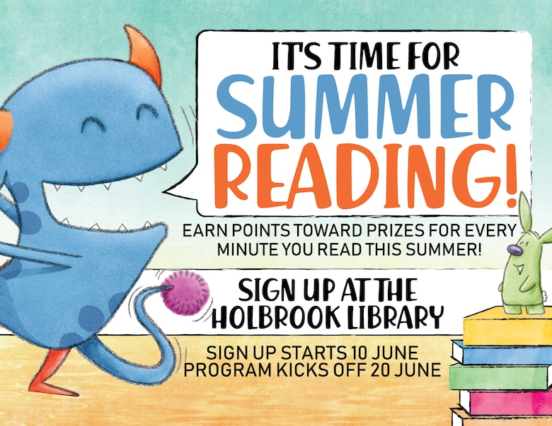 The Holbrook Library is keeping cool with a free Summer Reading Program, set to run from June 20 through July 25. (Courtesy graphic)