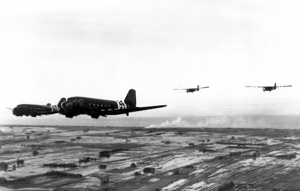 A CG-4A Horsa glider such as this was flown by 434th Troop Carrier Group members into Normandy June 6, 1944. Today marks the 75th Anniversary of D-Day and the allied invasion of France. (U.S. Air Force historical photo)