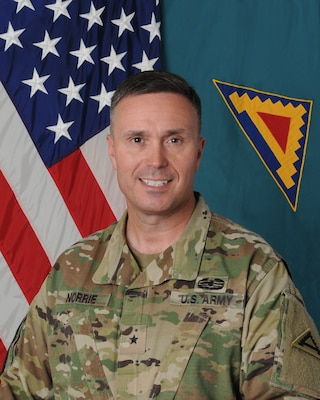 Official Photo for Brig. Gen. Christopher R. Norrie, commanding general for the 7th Army Training Command.