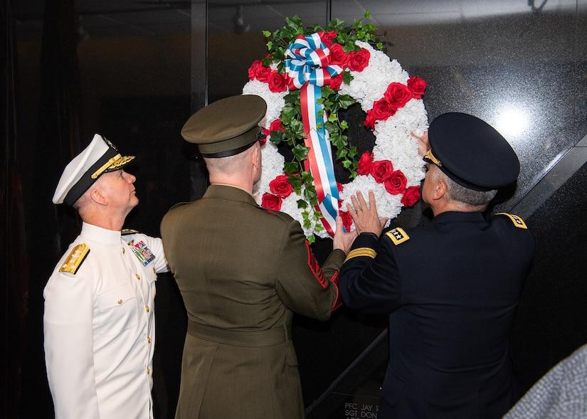 SSG Daugherty Memorial Wall Ceremony