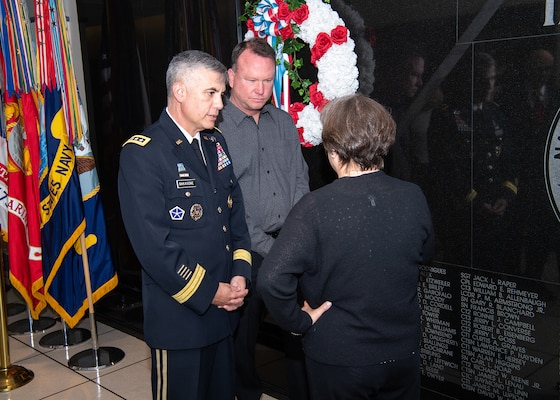 SSG Daugherty Memorial Wall Ceremony