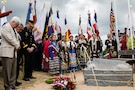 Charles Shay memorial ceremony at Omaha Beach, France
