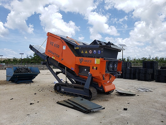 A new VZ 650 Impaktor shredder will allow disposal personnel in Guam to handle more equipment disposition jobs locally. The shredder was recently transported to the site by a Navy customer, saving DLA and estimated $11,000.