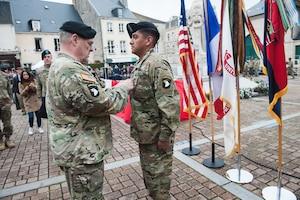101st Airborne Division ceremony in Carentan, France