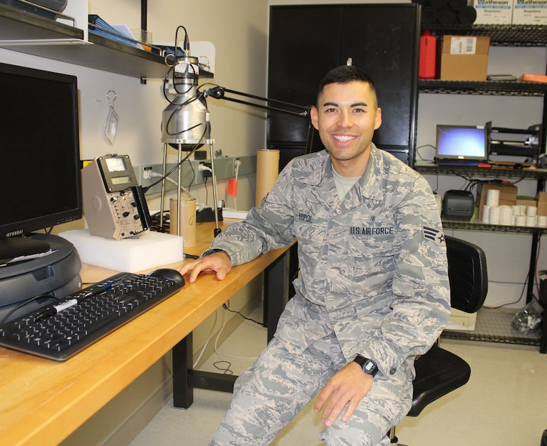 After facing adversities in his life, Staff Sgt. Kyle Hipol, 711th Human Performance Wing Defense Occupational and Environmental Health Readiness System support office consultant, now embraces them and turns any challenges he encounters as opportunities. Hipol also incorporated physical fitness as a resiliency outlet and decided to take up running and is now registered to run the Air Force Marathon on Sept. 21. (U.S. Air Force photo/Stacey Geiger)