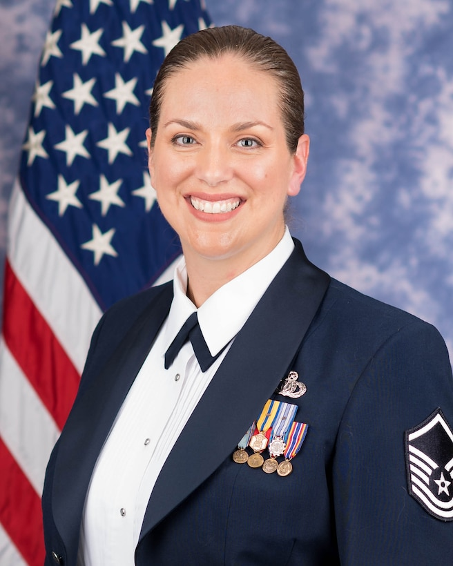Official photo of Master Sergeant Julia Cuevas, alto in the Singing Sergeants, The United States Air Force Band, Washington, D.C.
