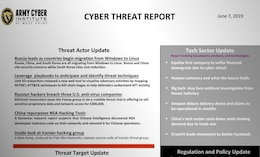 Cyber Threat Report June 07, 2019