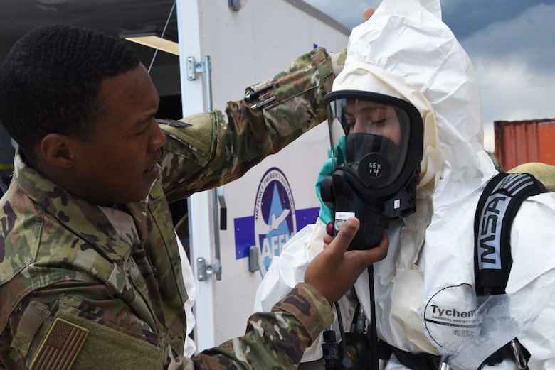 The 90th Civil Engineer Squadron Emergency Management Team conducted a deployment training exercise at F.E. Warren Air Force Base, Wyo., June 7, 2019.