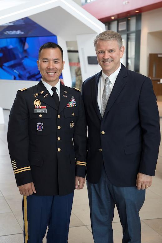 Dr. Pittman Congratulates LTC Nguyen