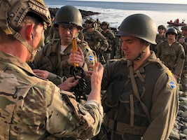 75th Ranger Regiment reenacts the climb at Pointe Du Hoc, France