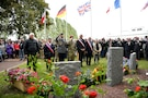 Capt. Rex Combs memorial ceremony in Chef du Pont, France