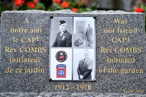Capt. Rex Combs memorial ceremony in Chef du Pont, France