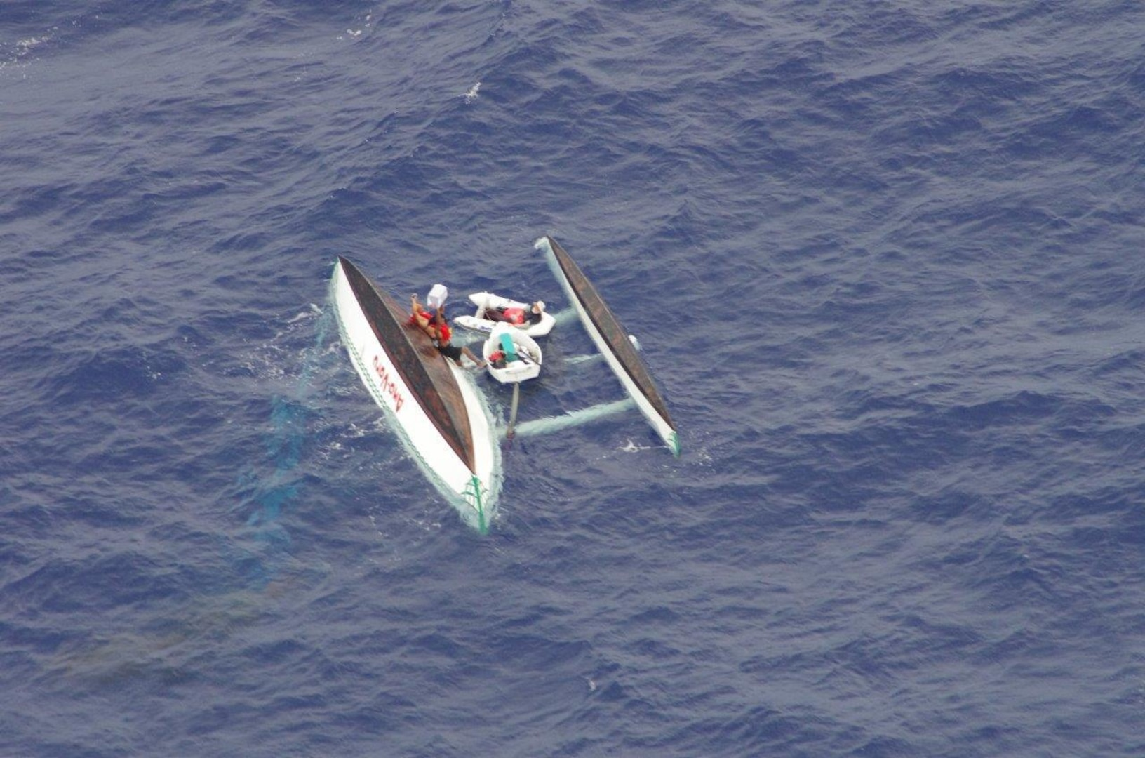 3 Men Off Yap Rescued from Capsized Sailing Canoe