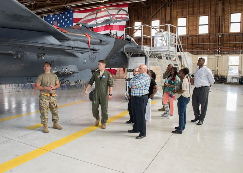 The 366th Fighter Wing chplaincy hosted an immersion tour for local clergy and ministry leadership in order to build a relationship with mountain home clergy and civic leader community. The event was held to find ways to support Arimen with different religous backgrounds. (U.S. Air For photo by Senior Airman Tyrell Hall)