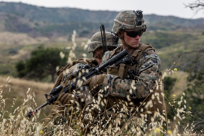 U.S. Marines with 1st Combat Engineer Battalion, 1st Marine Division participate in the Sappers Leadership Competition at Camp Pendleton, Calif., June 3, 2019.
