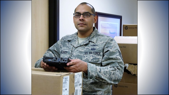 Tech. Sgt. Christian Delgado, 340th Flying Training Group information technology section chief. (U.S. Air Force photo by Janis El Shabazz)