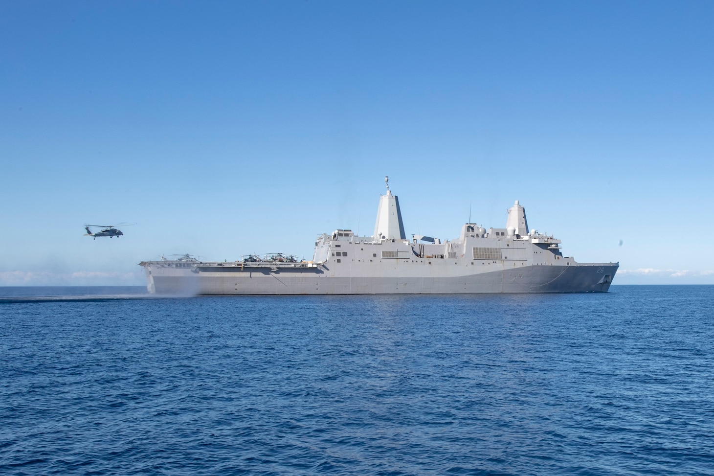 John P. Murtha is underway conducting routine operations as a part of USS Boxer Amphibious Ready Group (ARG) in the eastern Pacific Ocean.