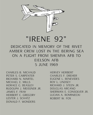 Team Offutt remembers the crew of the Rivet Amber who lost their lives on this day 50 years ago. A memorial was held in the 45th Reconnaissance Squadron Haun Auditorium featuring keynote speaker Kingdon Hawes, the acting squadron commander on the day of the crash.