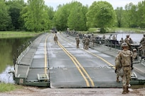 2-101, active and Reserve component engineers conduct Bridge Building Exercise