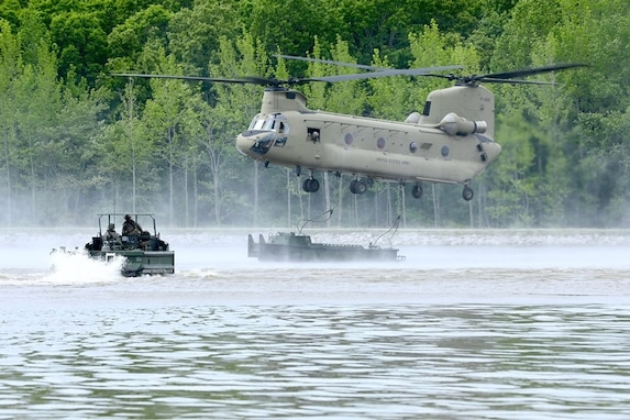 2-101, Active and Reserve Engineers conduct Bridge Building Exercise