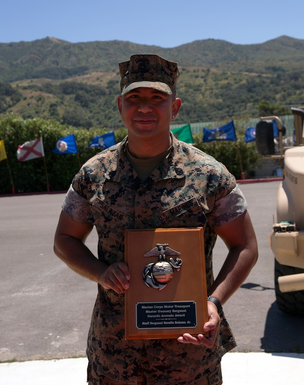 "The award, formerly known as the ""Motor Transport Operation Chief of the Year,"" was renamed this year in honor of Master Gunnery Sgt.  Gerardo Acevedo, a motor transport operation chief who passed away Feb. 3, 2018."