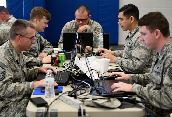 Teams compete in offensive and defensive cyber operations during the 2019 24th Air Force Cyber Competition at Joint Base San Antonio-Lackland June 3-7. Eighty-three Airmen from 20 units across the 24th AF competed in the cyber capture-the-flag in hopes of having their names etched on the Cyber Cup.