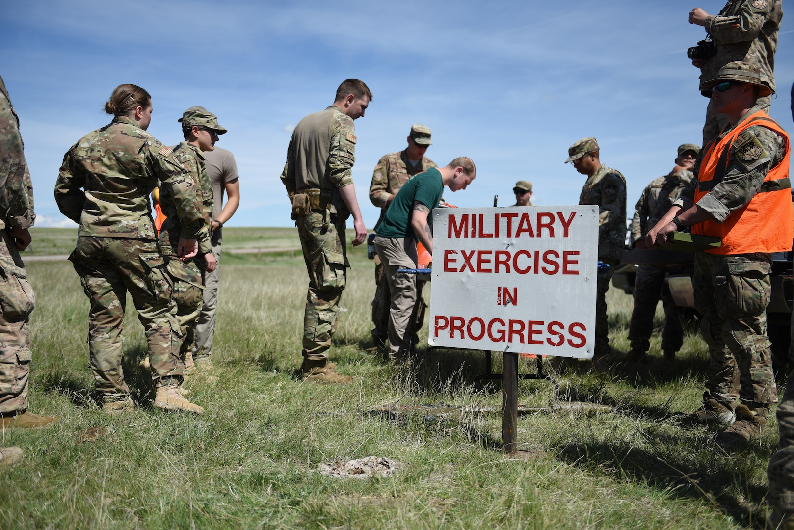 Airmen prepare for an integrated recapture and recovery exercise June 11, 2019, at an intercontinental ballistic missile launch facility near Simms, Mont.