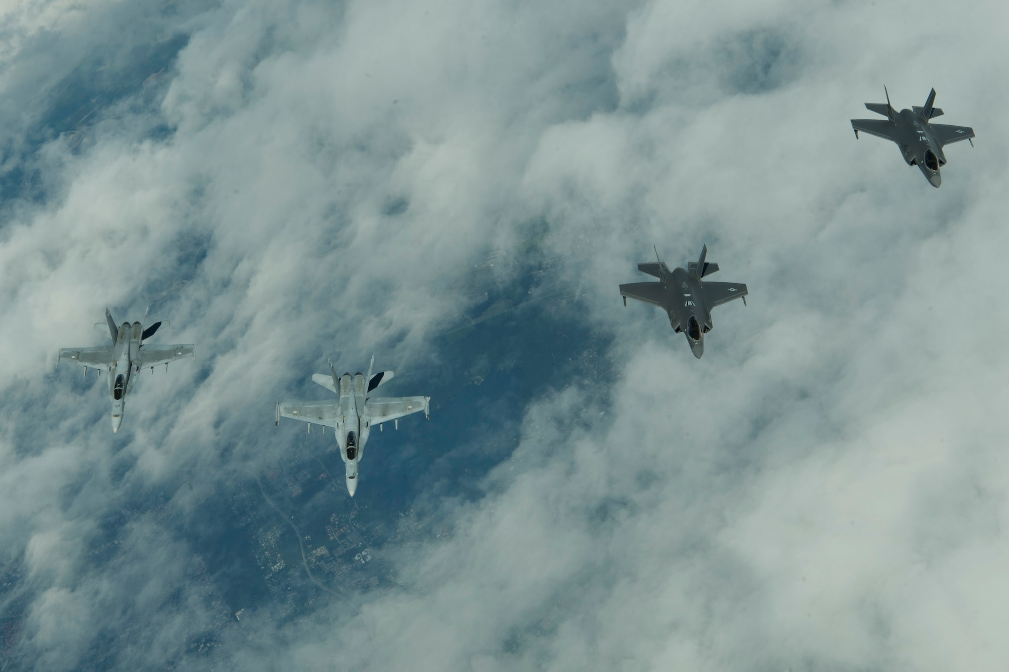 These aircraft are in Europe to participate in exercises and conduct training with Europe-based aircraft in support of a Theater Security Package.