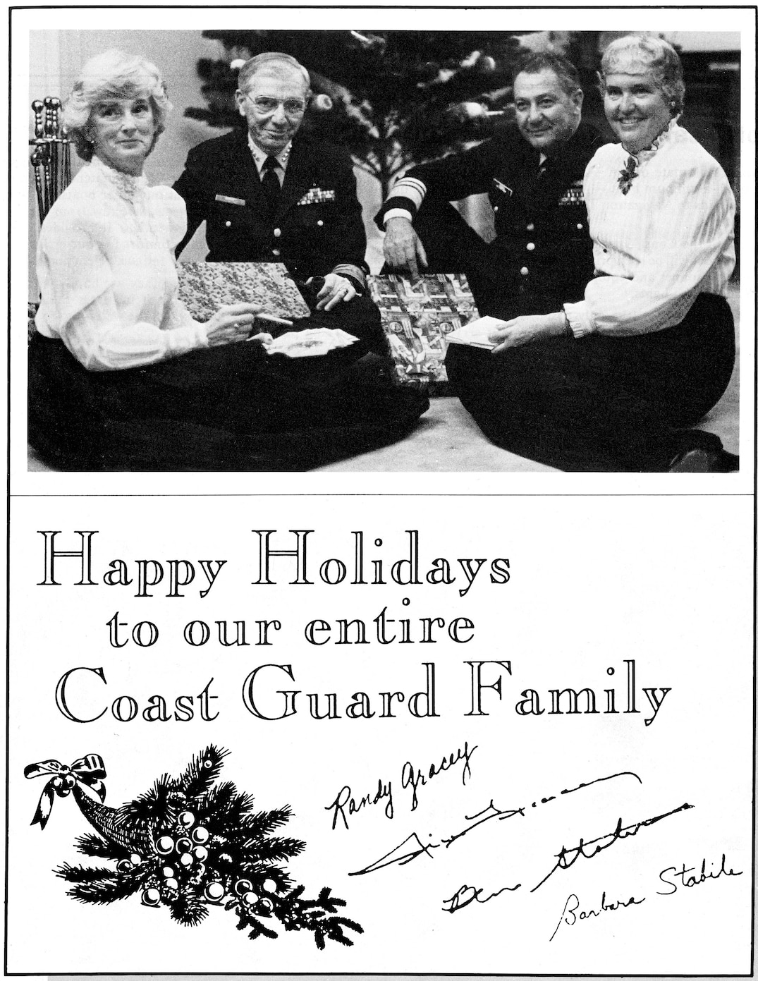 Admiral Gracey's 1984 Christmas Card to the Coast Guard Family.