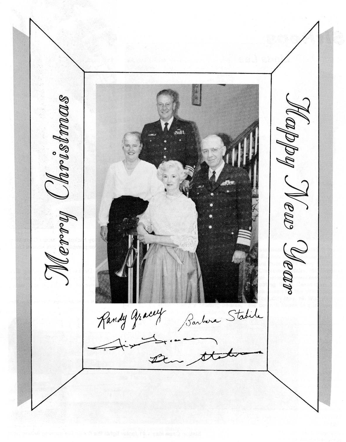 Admiral Gracey's 1985 Christmas Card to the Coast Guard Family.