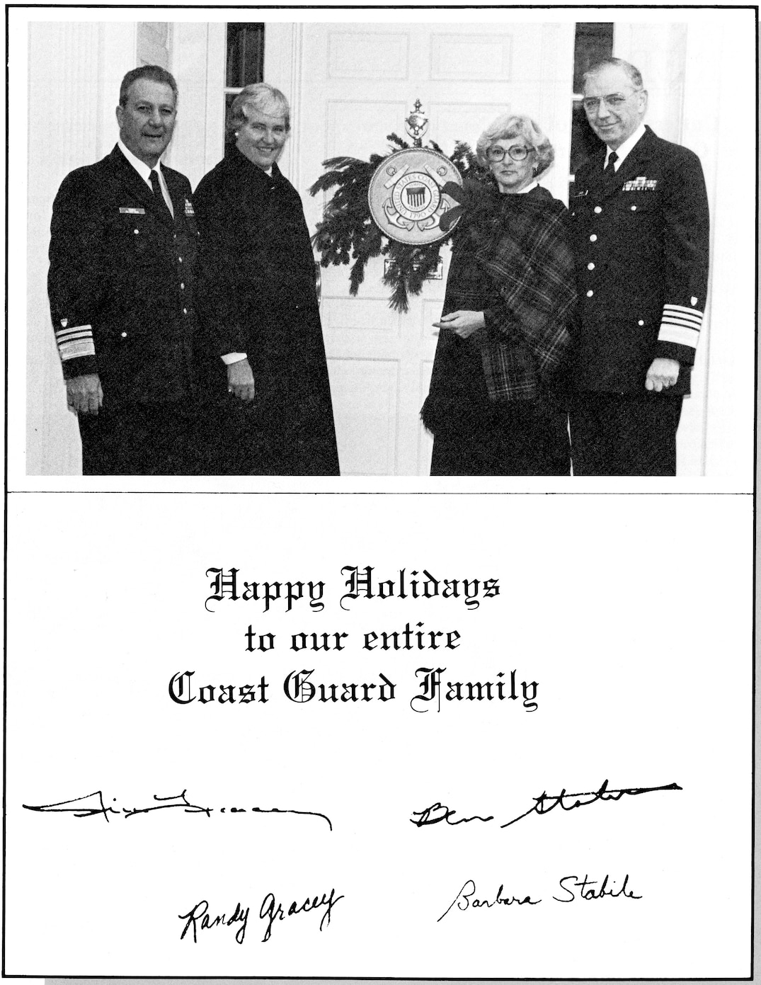 Admiral Gracey's 1983 Christmas Card to the Coast Guard Family.