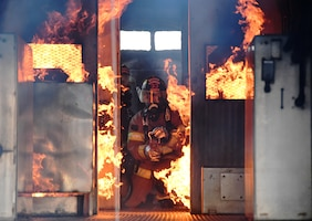 Aircraft rescue fire fighting training