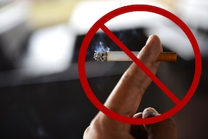 The 86th Medical Group Health Promotion office is encouraging members of the Kaiserslautern Military Community to commit to healthy, smoke-free lives. According to the American Cancer Society, cigarette smoke kills more Americans than alcohol, car accidents, HIV, guns, and illegal drugs combined. (U.S. Air Force photo Illustration by Senior Airman Joshua Magbanua)