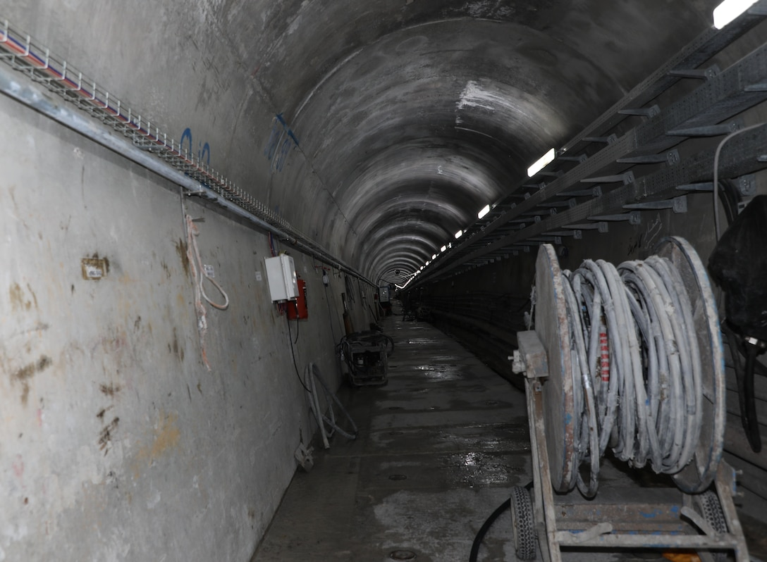 """View inside the """"grout gallery"""" at the Mosul Dam, located along the Tigris River outside Mosul City in Iraq."""