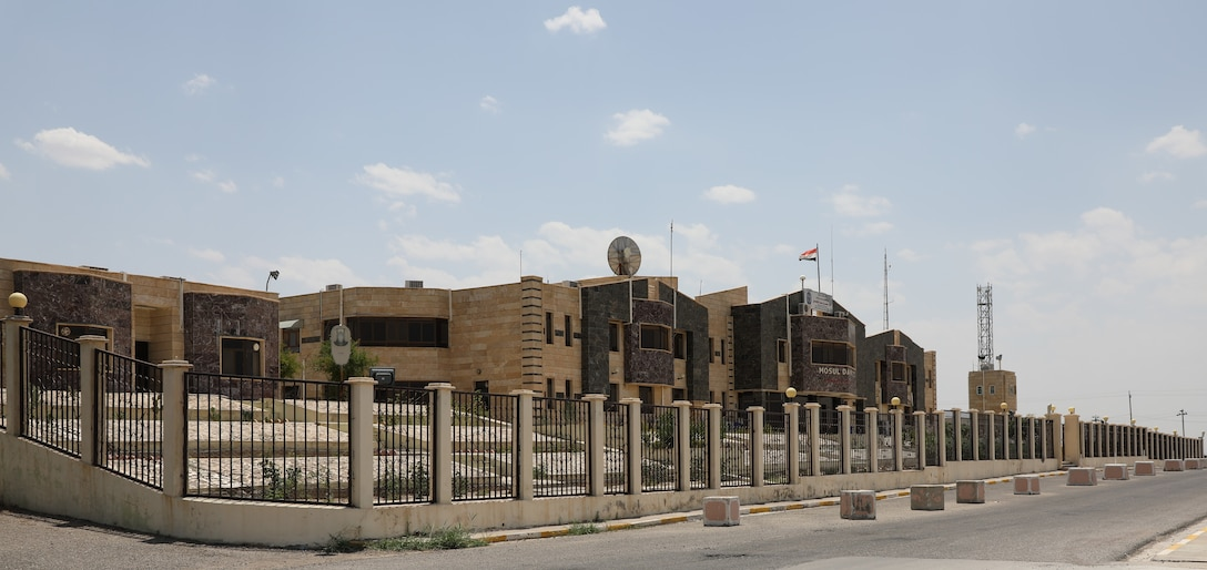 View of the Iraqi Ministry of Water Resources building, located at the Mosul Dam outside Mosul City in Iraq.