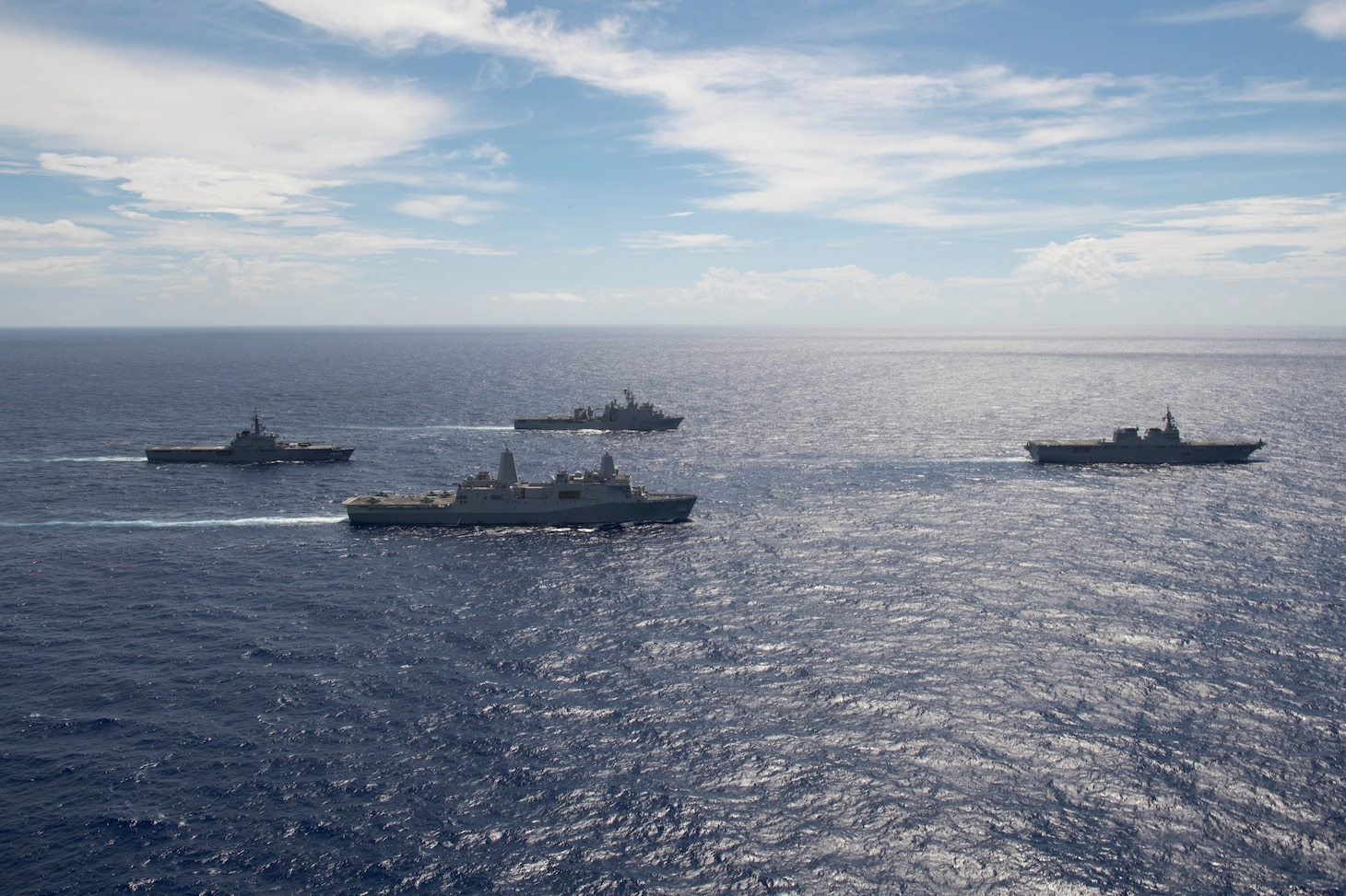 The Wasp Amphibious Ready Group is transiting with JS Ise and JS Kunisaki in the U.S. 7th Fleet area of operations.