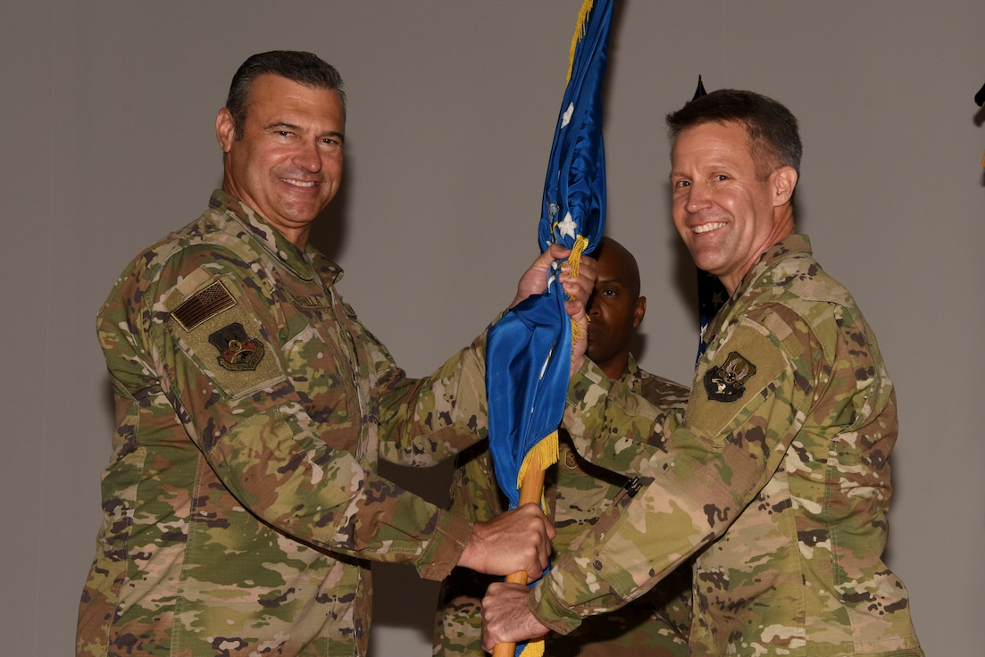 Brig. Gen. Daniel Tulley accepts command of the 379th AEW